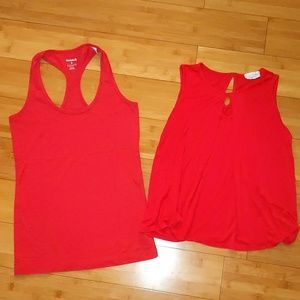 Bundle 2 red small tank tops